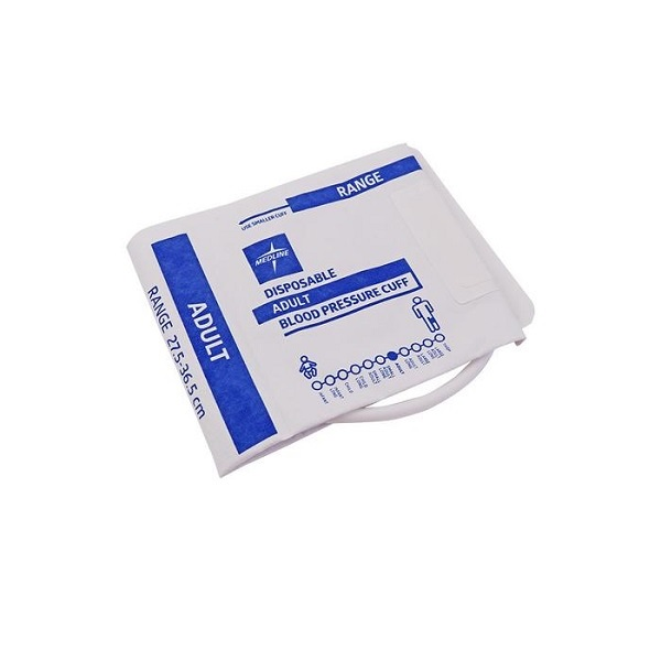 Medline Disposable BP Cuff Adult 1 Tube With Hp Connector