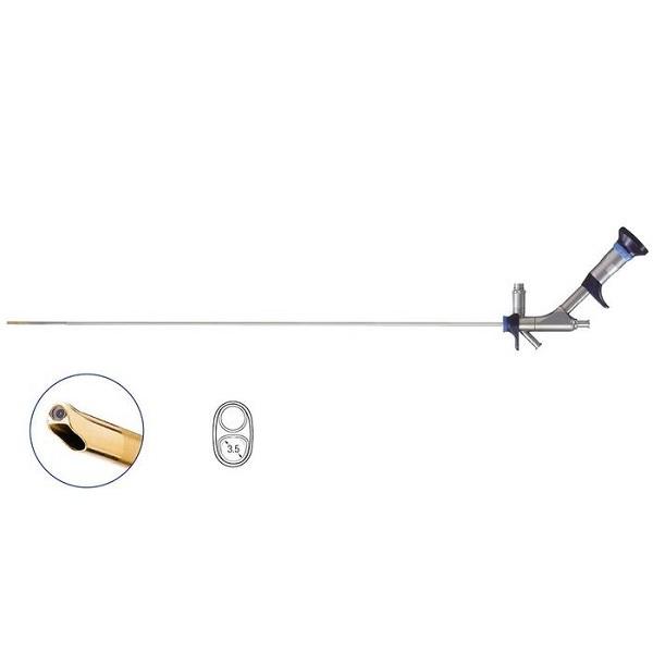 Olympus 7.5 Fr Semi Rigid Ureteroscope 2.4 3.4 Fr Dual Channel Angled 7o 430 mm