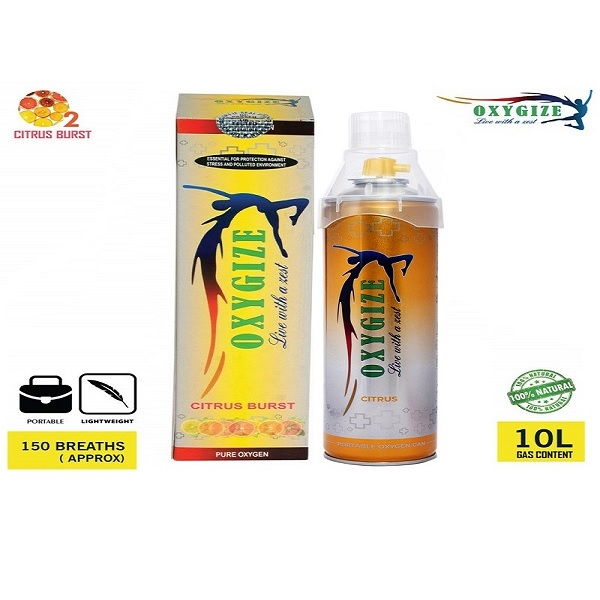 Oxygize® Citrus burst Portable Oxygen in a Can