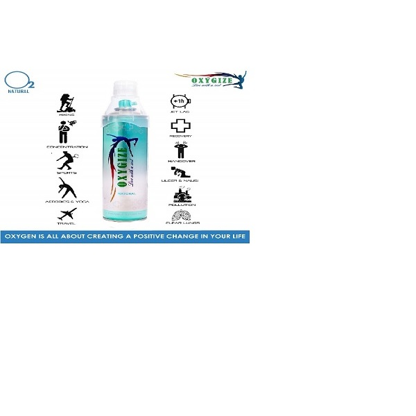 Oxygize® Natural Oxygen can with mask 10 Litre Approx 150 Breathe 2