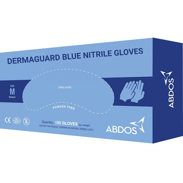 Abdos DERMA GUARD Blue Nitrile Gloves is available for best price at Medpick.