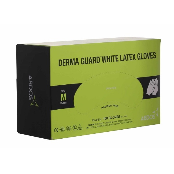Abdos DERMA GUARD White Latex Gloves is available for best price at Medpick.