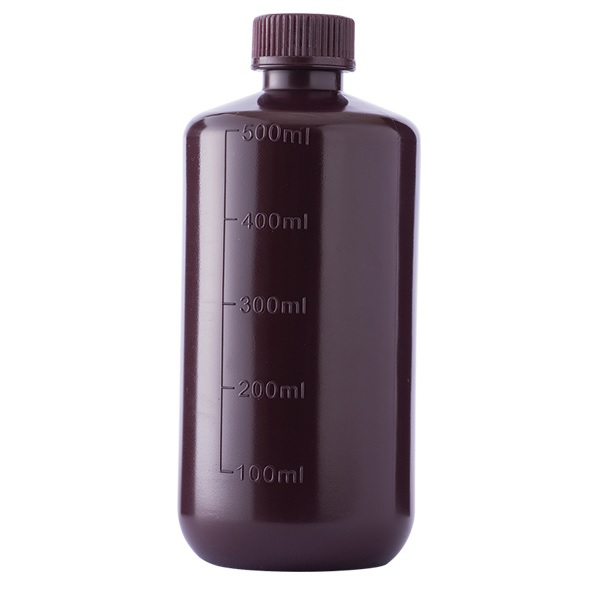 Amber Narrow Mouth Bottle HDPE