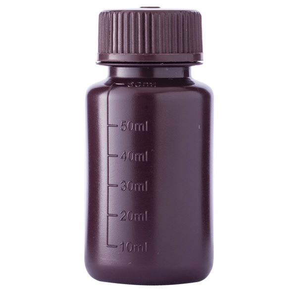 Amber Wide Mouth Bottle HDPE